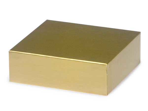 "Gold 4x4"" Box Lid 100% Recycled Giftware Rigid Lid"