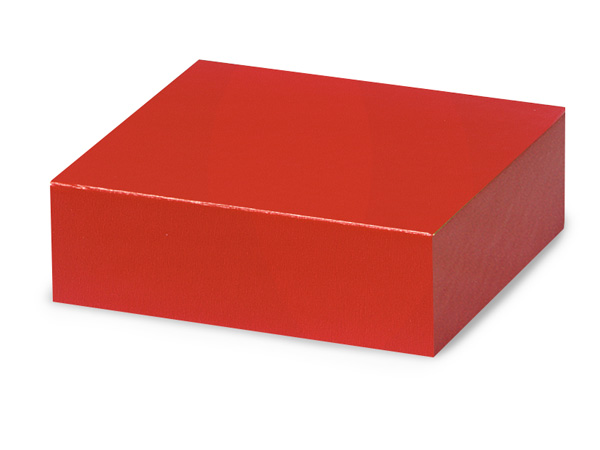 "Red 4x4"" Box Lid 100% Recycled Giftware Rigid Lid"
