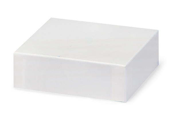 "White Gloss 4x4"" Box Lid 100% Recycled Giftware Rigid Lid"