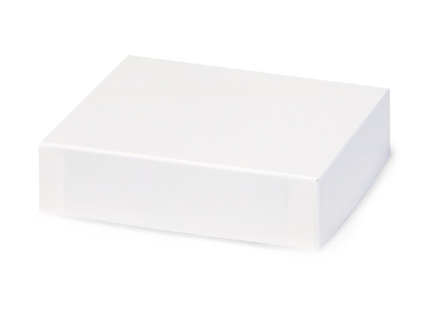 "White Gloss 5x5"" Box Lid 100% Recycled Giftware Rigid Lid"