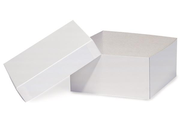"White Hi-wall 6x6x3"" Semi-Gloss Giftware Box Base"