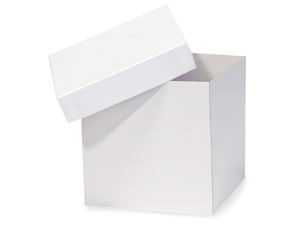 "White Hi-wall 6x6x6"" Semi-Gloss Giftware Box Base"