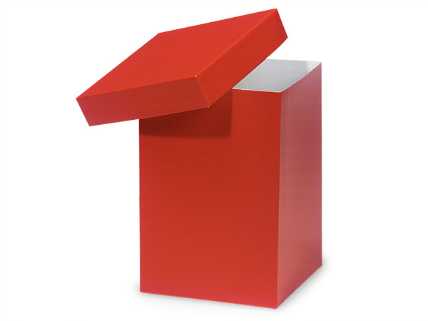 "Red Hi-wall 6x6x9"" 100% Recycled Giftware Box Base"