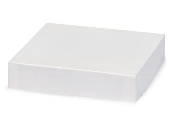 """White Gloss 6x6"""" Box Lid 100% Recycled Giftware Rigid Lid"""