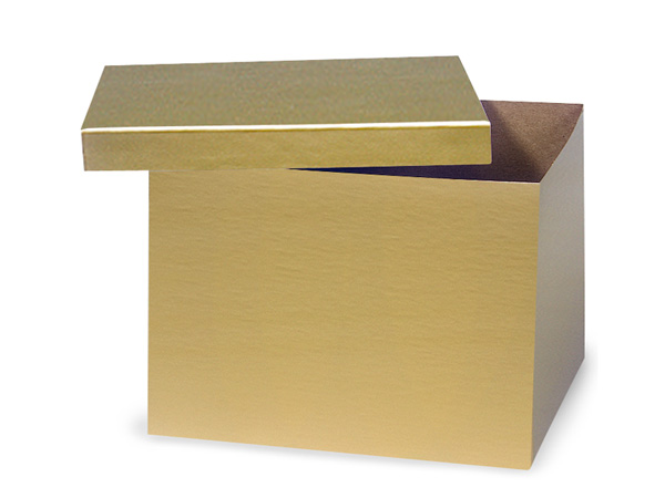 "Gold Hi-wall 8x8x6"" 100% Recycled Giftware Box Base"