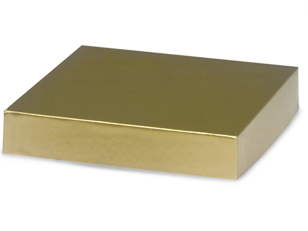 """Gold 8x8"""" Box Lid 100% Recycled Giftware Rigid Lid"""