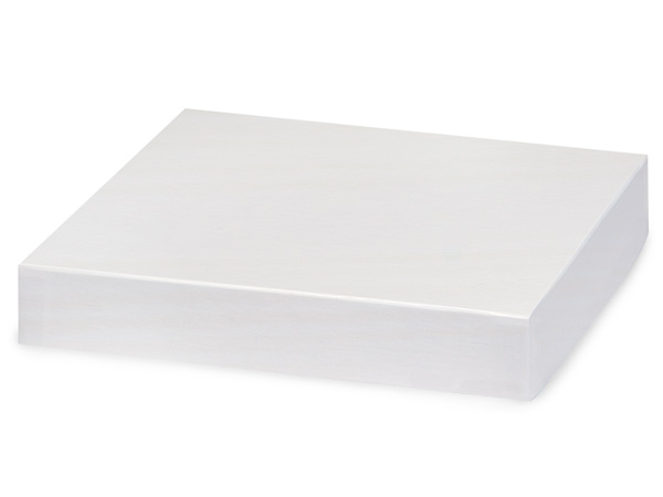 "White Gloss 8x8"" Box Lid 100% Recycled Giftware Rigid Lid"
