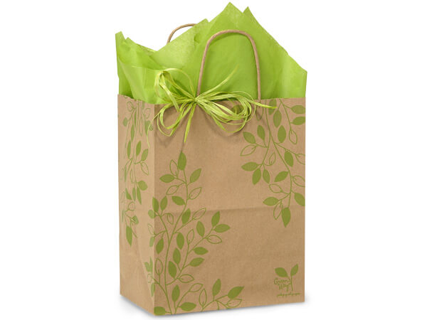 "Ivy Lane Paper Shopping Bags Cub 8x4.75x10.25"", 250 Pack"
