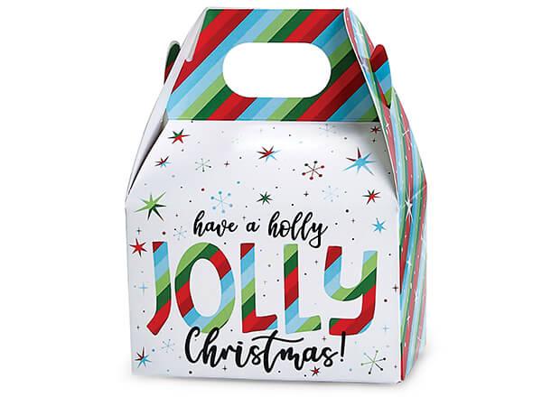 "Jolly Christmas Mini Gable Box, 4x2.5x2.5"", 6 Pack"