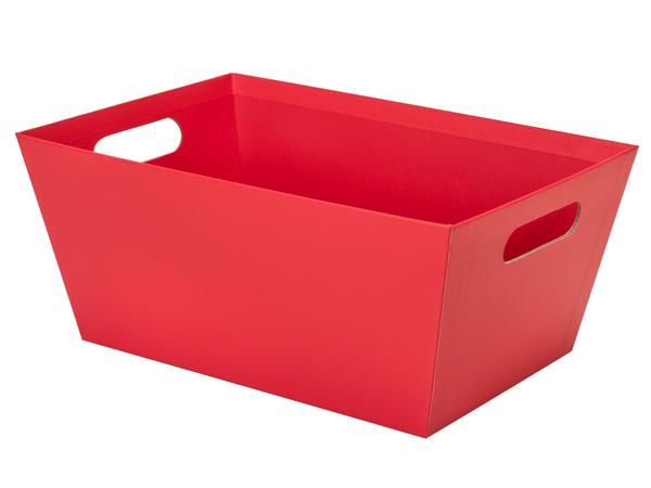 Red Jumbo Wide Base Market Tray