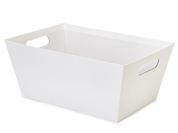 White Jumbo Wide Base Market Tray