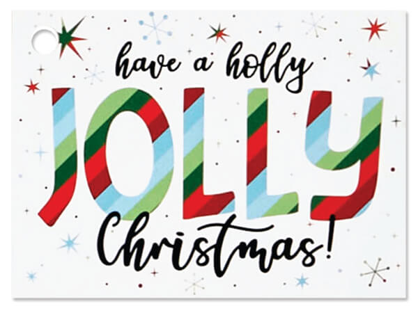 """Jolly Christmas Theme Gift Card, 3.75x2.75"""", 6 Pack"""