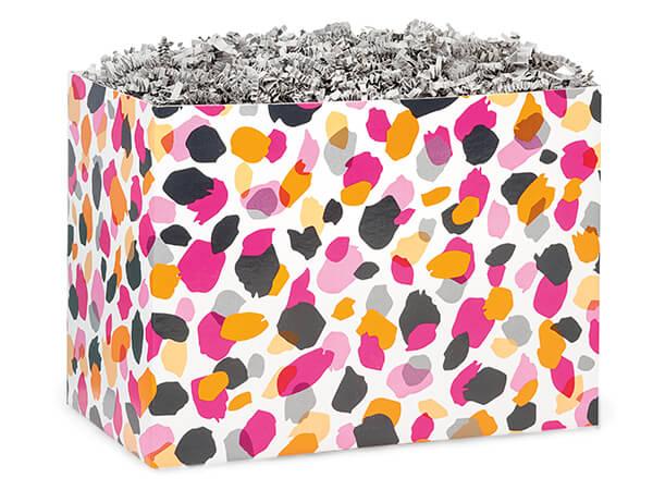"Jungle Spots Basket Box, Large 10.25x6x7.5"", 6 Pack"