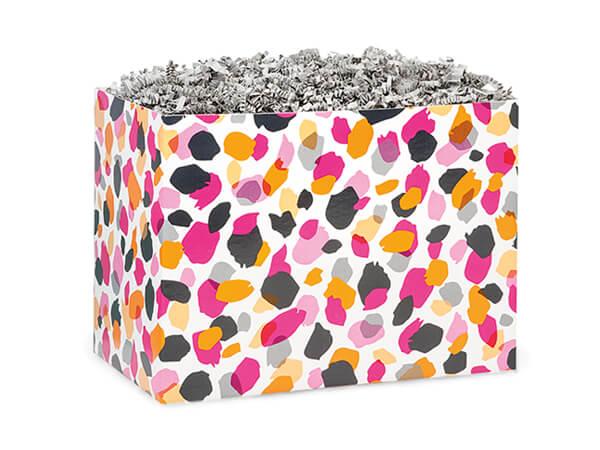 """Jungle Spots Basket Box, Small 6.75x4x5"""", 6 Pack"""