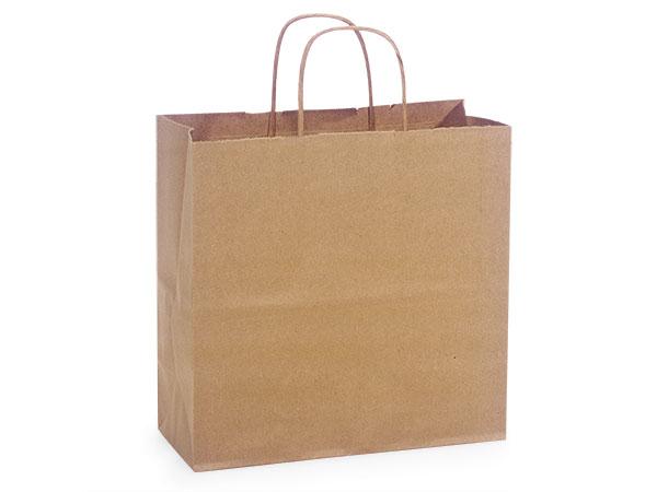 "Natural Brown Kraft Shopping Bags Joey 10x5x10"", 250 Pack"