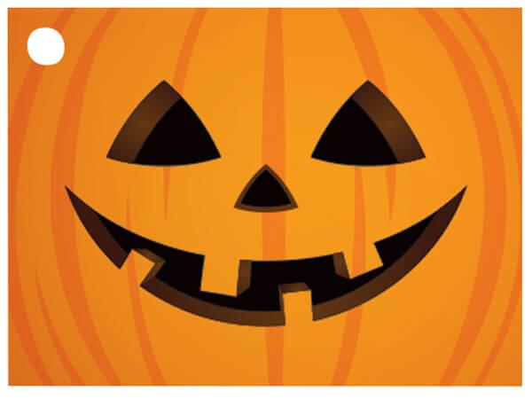 "Jack-o-Lantern Theme Gift Cards 3-3/4x2-3/4"""