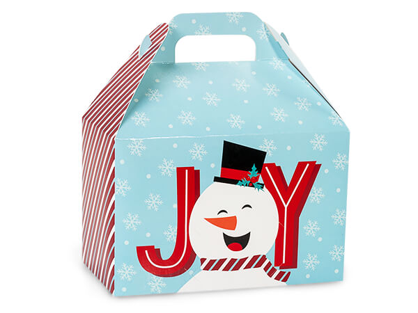 "Joyful Snowman Gable Box, 8.5x5x5.5"", 6 Pack"