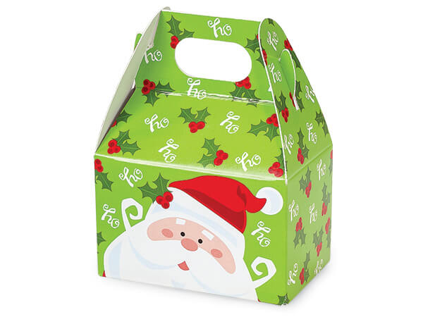 "Jolly Santa Mini Gable Boxes, 4x2.5x2.5"", 6 Pack"