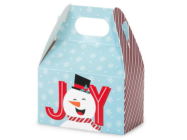 "Joyful Snowman Mini Gable Boxes, 4x2.5x2.5"", 6 Pack"