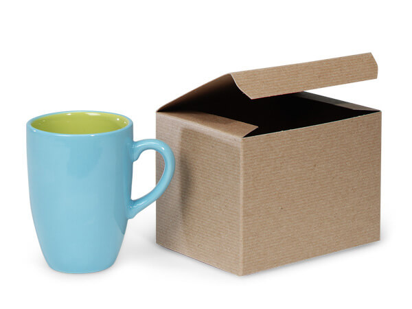"Recycled Kraft 1 Piece Gift Boxes, 6x4.5x4.5"", 5 Pack"