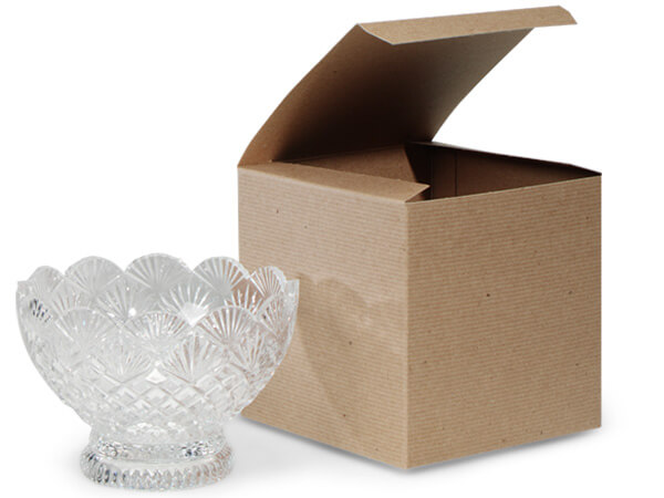 """Recycled Kraft 1 Piece Gift Boxes, 6x6x6"""", 5 Pack"""