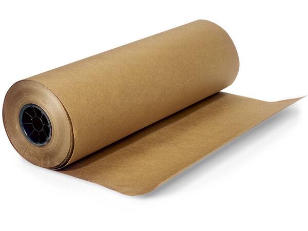 """30lb 100% Recycled Kraft Paper Roll 24""""x1200' With 9"""" Diameter"""