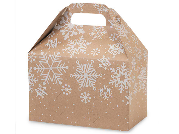 Kraft Snowflake Gable Boxes