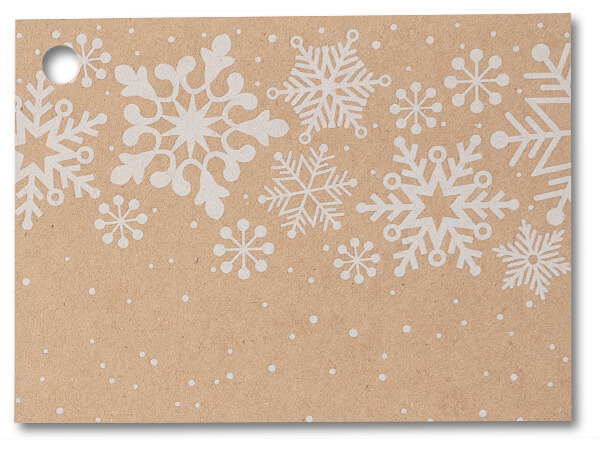 Kraft Snowflake Theme Card Cards 3-3/4 x 2-3/4""
