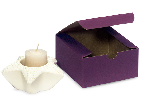 Deep Purple Gift Boxes 4x4x2""