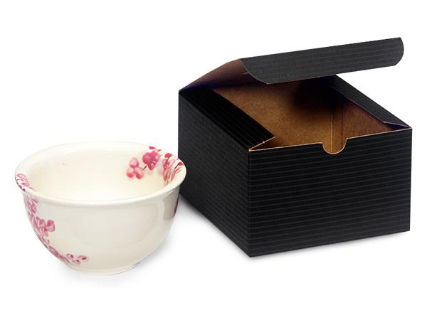 "Black Gift Boxes 5x5x3"""