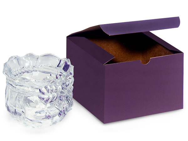 Deep Purple Gift Boxes 6x6x4""