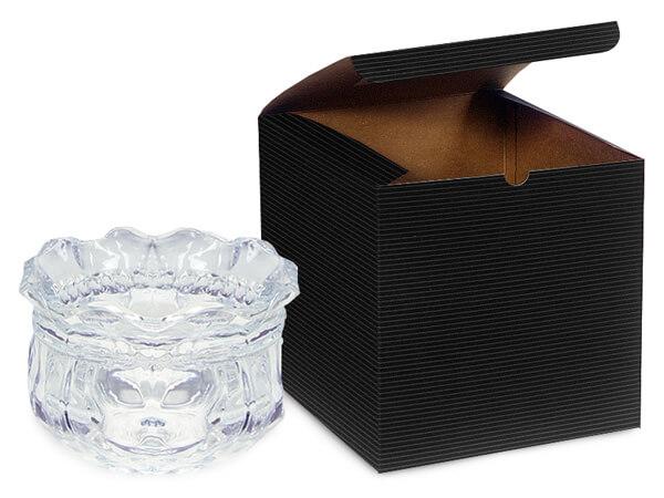 "Black Gift Boxes 6x6x6"""