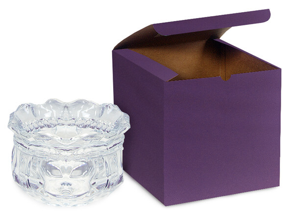 "Deep Purple Gift Boxes 6x6x6"""