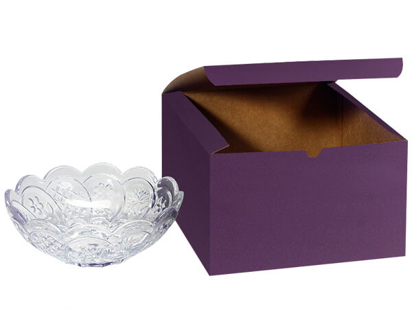 Deep Purple Gift Boxes 10x10x6""