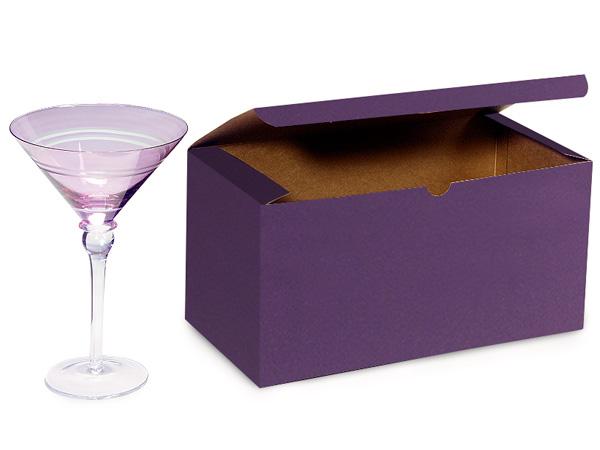 "Deep Purple Gift Boxes 12x6x6"""