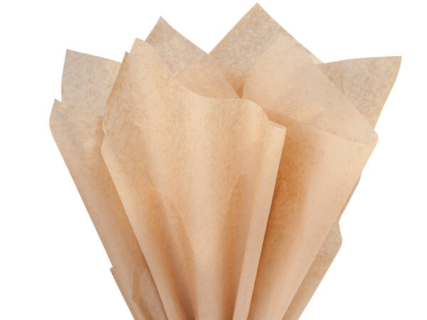 "Kraft Recycled Tissue Paper, 15x20"" Carton of 5, Bulk 960 Sheet Packs"