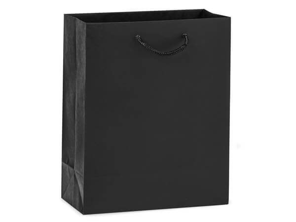 "Black Kraft Gift Bags, Cub 8x4x10"", 10 Pack"