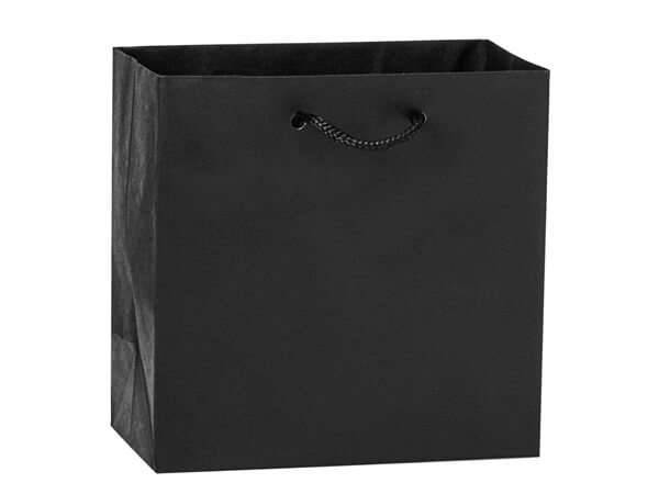 "Black Kraft Gift Bags, Jewel 6.5x3.5x6.5"", 100 Pack"