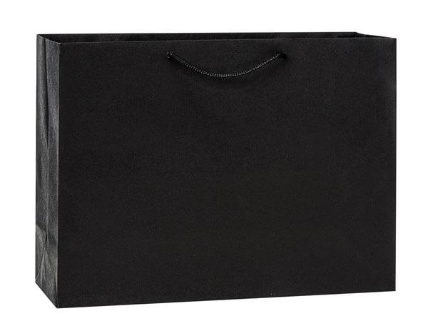 """Black Kraft Gift Bags, Vogue 16x6x12"""", 10 Pack"""