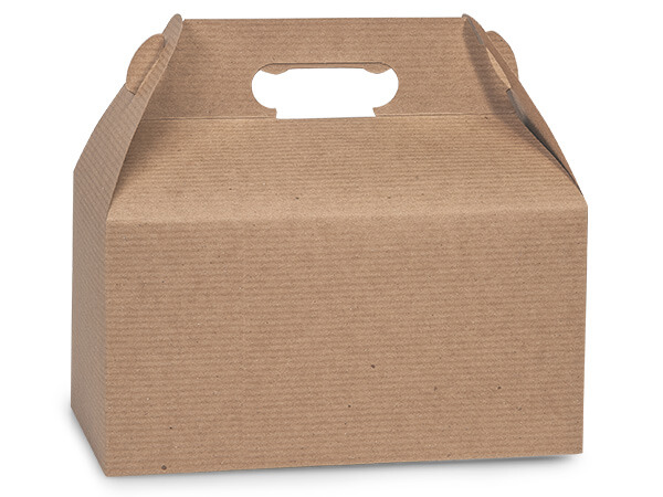 "Kraft Recycled Gable Boxes 9-1/2x5x5"" ~ 100% Recycled"