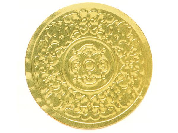 "500 Gold Medallion Embossed 2"" Round Foil Seals"