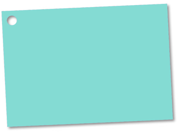 Aqua Blue Theme Gift Cards 3-3/4x2-3/4""