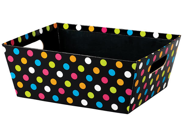 *Bright Dots Large Wide Base Trays