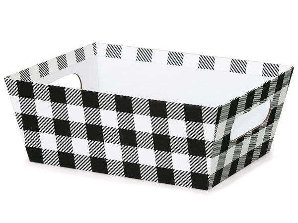 Buffalo Plaid Black and White Market Trays