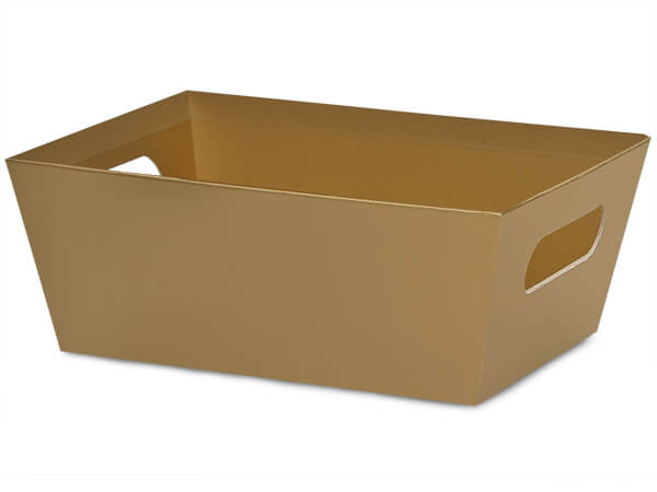 Gold Large Wide Base Market Tray