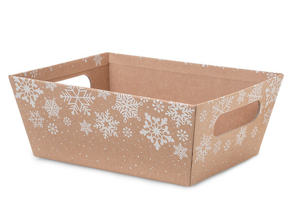 Kraft Snowflake Large Wide Base Market Tray