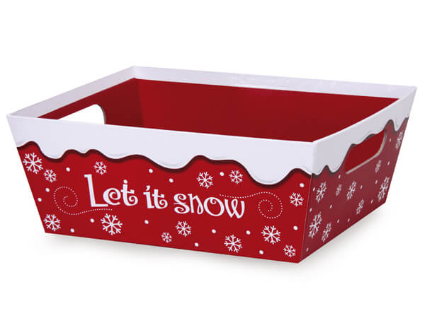 Let It Snow Large Wide Base Trays
