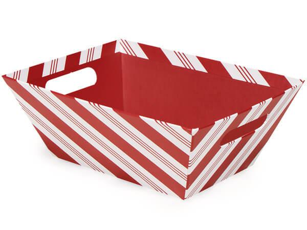 "Peppermint Stripe Market Trays Large 7-1/2x9-7/8x3-1/2"""