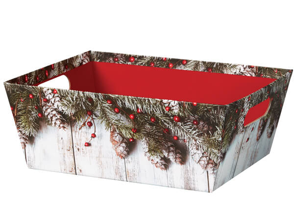 Rustic Berries Large Wide Base Tray