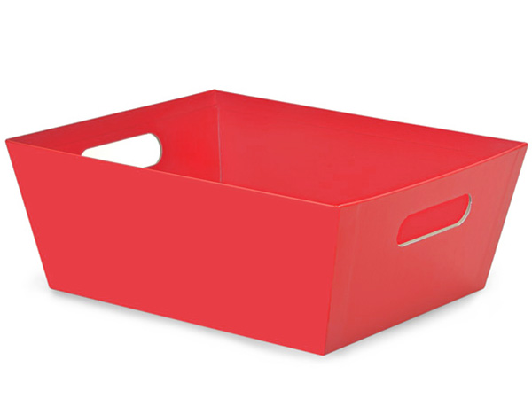 Red Beveled Market Tray